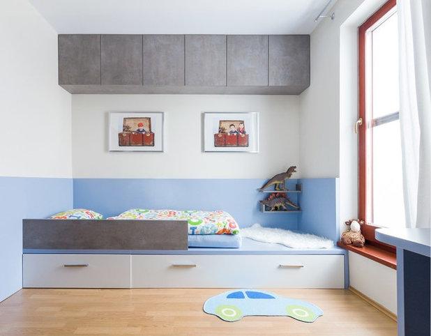 Pensez au lit estrade pour gagner de la place dans une for Place du lit dans une chambre