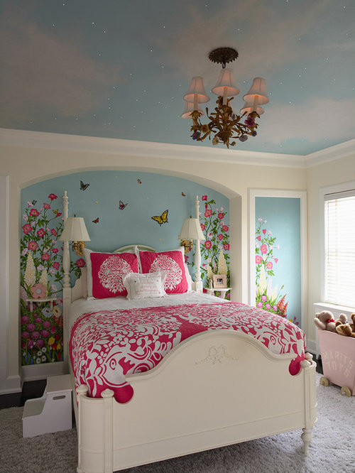 Inspiration For A Mid Sized Timeless Girl Kidsu0027 Bedroom Remodel In  Minneapolis With Multicolored
