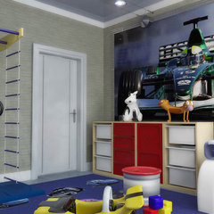 contemporary kids by Lompier Interior Group