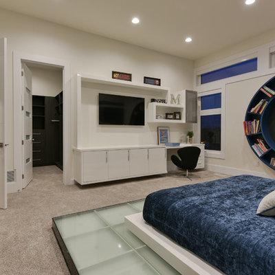 Inspiration for a modern kids' bedroom remodel in Edmonton