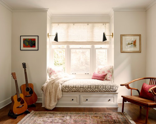 Kidsu0027 Room   Transitional Girl Dark Wood Floor Kidsu0027 Room Idea In Seattle  With