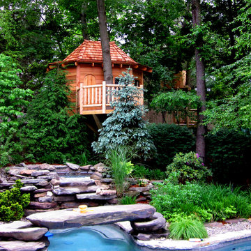 Mahwah pool side tree house