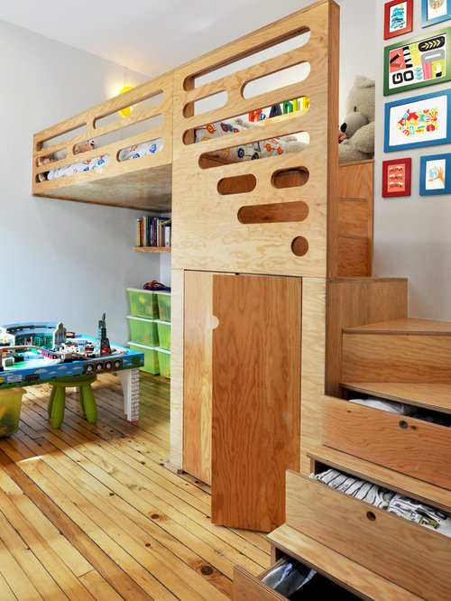 Inspiration For A Contemporary Kidsu0027 Bedroom Remodel In Montreal