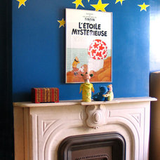 Modern Kids mantel and mural - brooklyn, ny - wary meyers decorative arts