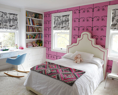 Mid sized trendy girl carpeted and beige floor kids  bedroom photo in New  York. Off White Carpet   Houzz
