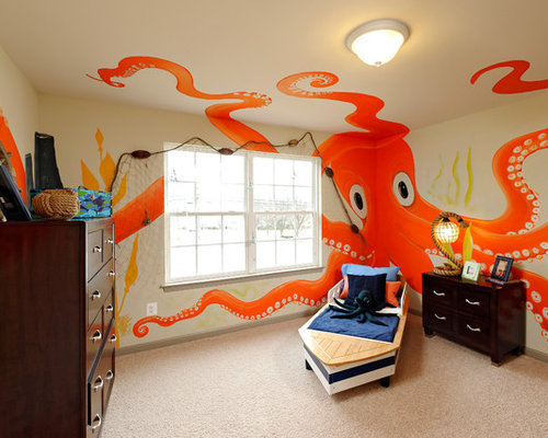 Surprising Under The Sea Themed Kids Bedroom Ideas Pictures Remodel And Decor Largest Home Design Picture Inspirations Pitcheantrous