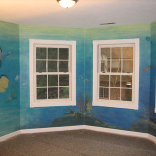 Mermaid theme painted in girls bedroom in Tualatin, Oregon