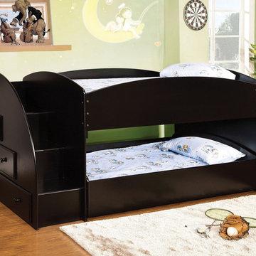 Merritt Twin over Twin Bunk Bed | Black
