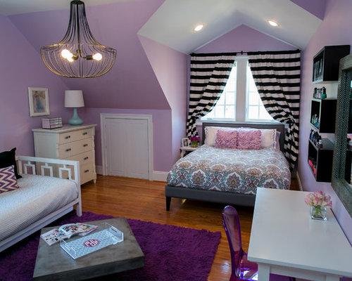 elegant kids room photo in dc metro - Violet Teen Room Interior