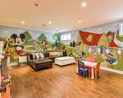 High Quality Transitional Gender Neutral Medium Tone Wood Floor Kidsu0027 Room Idea In  Toronto With Multicolored Part 28