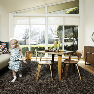 This is an example of a midcentury kids' room in Dallas.