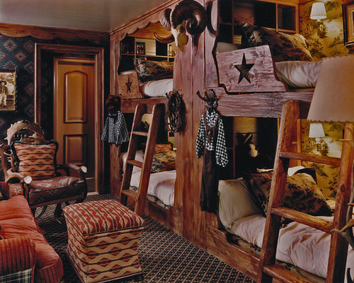 Western theme bedroom home design ideas renovations photos for Cowgirl bedroom ideas for kids