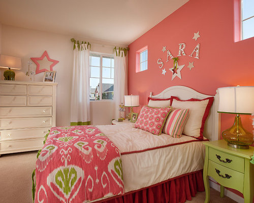 Painted polka dots ideas pictures remodel and decor - Pink and white teenage room ...