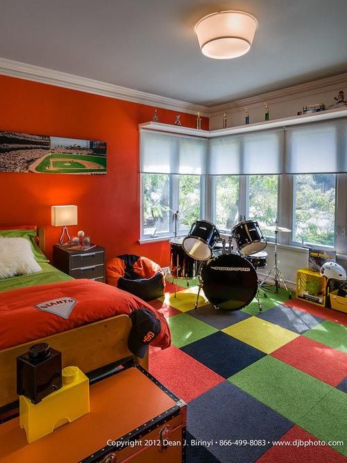 Modern boys bedroom home design ideas pictures remodel for Contemporary boys bedroom ideas