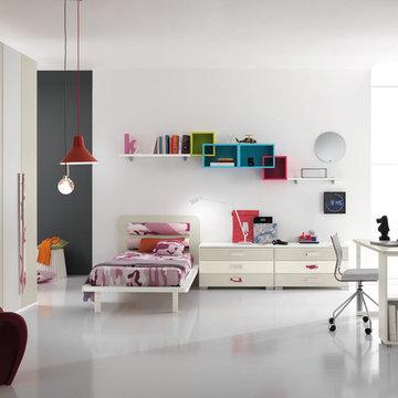 Modern Italian Kids Bedroom Set ONE 401 by SPAR | MIG Furniture