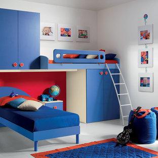 Diseño de dormitorio infantil de 4 a 10 años, minimalista, pequeño