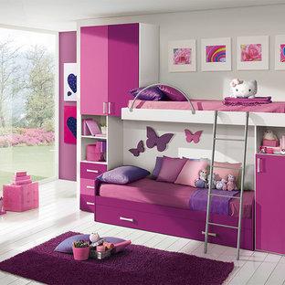 Imagen de dormitorio infantil de 4 a 10 años moderno