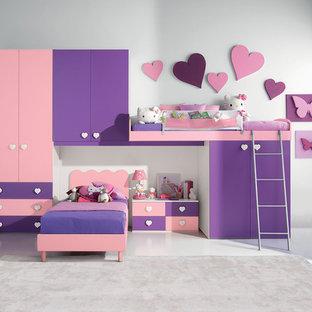 Diseño de dormitorio infantil minimalista pequeño