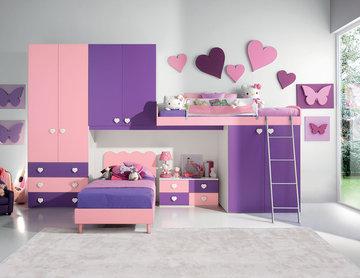 Modern Kids Bunk Bedroom Furniture Set VV G073 - $3,525.00