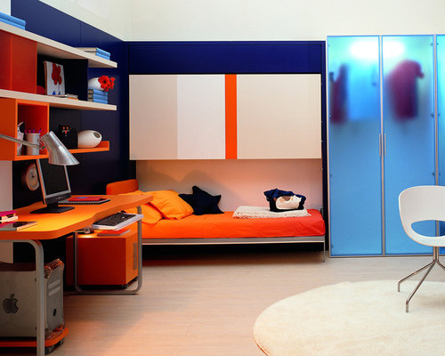 Modern kid rooms houzz for Modern kids bunk beds