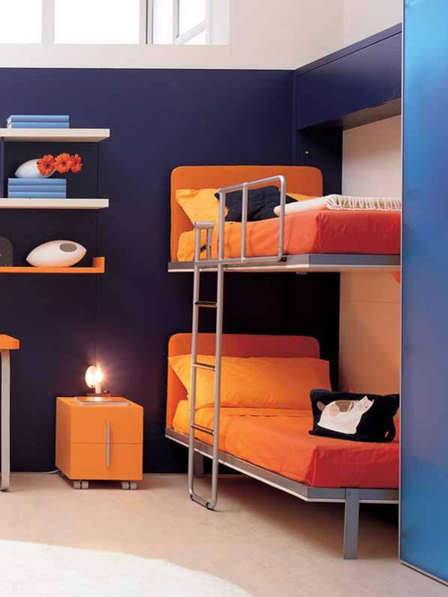 Murphy bunk bed houzz for Modern bunk beds for kids