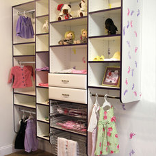 Contemporary Kids by Closets and Cabinetry by Closet City