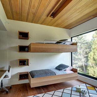 Trendy gender-neutral medium tone wood floor kids\u0027 bedroom photo in New York with & Cantilever Bed | Houzz