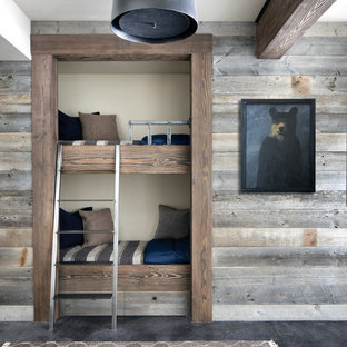 Example of a mountain style kids' room design in Other