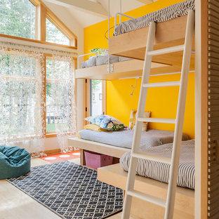 Idéer för funkis barnrum, med gula väggar