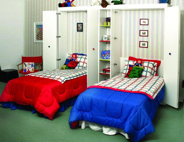 Murphy twin beds opened... Great for any children's room!