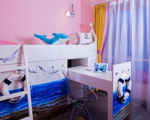 maritime lila kinderzimmer gestalten ideen design houzz. Black Bedroom Furniture Sets. Home Design Ideas