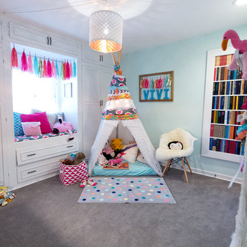 My Houzz: Color and Whimsy in a Child's Play Space in Kansas