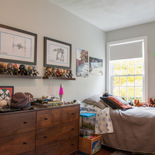 Inspiration For A Transitional Boy Kidsu0027 Room Remodel In Boston With Gray  Walls