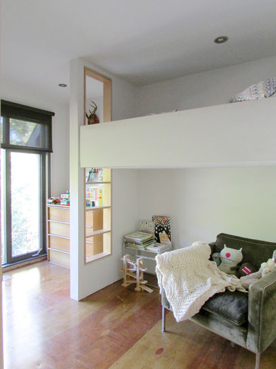 Children Elevated Twin Bed With Storage