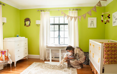Color and Pattern Play in a Happy New Nursery