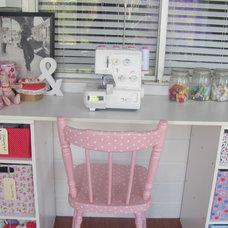 Eclectic Kids my vintage look sewing room