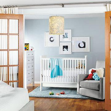 Nest Crib & Shay Glider Nursery by R&B