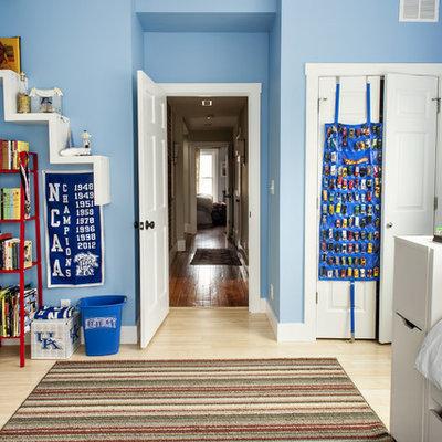 Example of a classic bamboo floor kids' bedroom design in Louisville