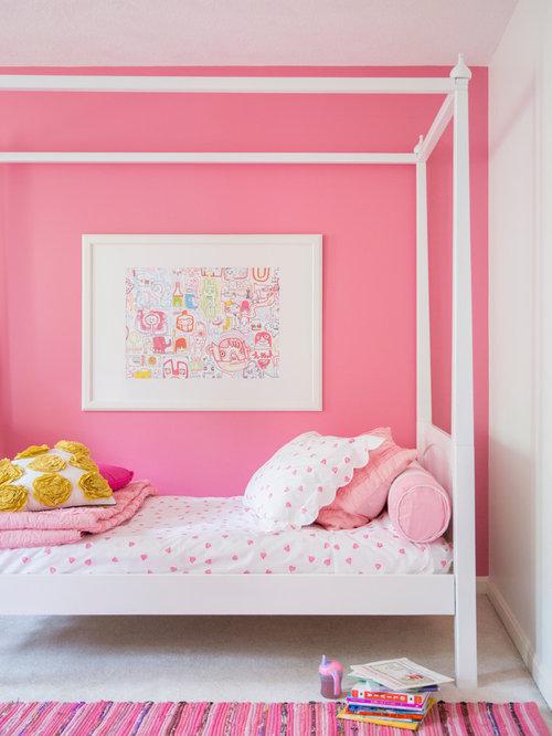 Pink girl room houzz for Houzz kids room