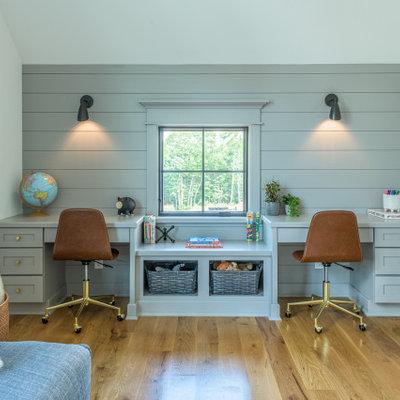 Kids' room - farmhouse kids' room idea in Boston