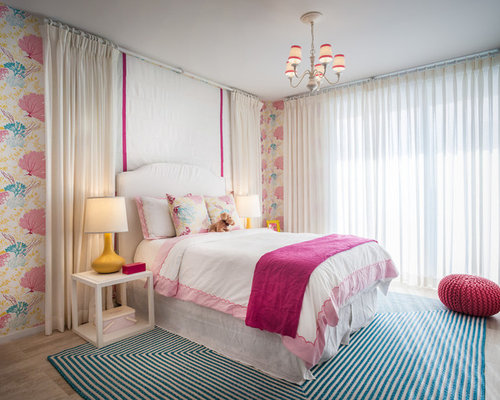 Inspiration For A Mid Sized Contemporary Girl Light Wood Floor Kidsu0027 Bedroom  Remodel In