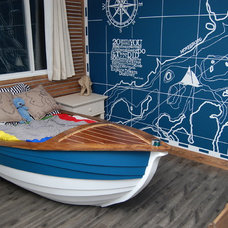 Traditional Kids Oliver Laurins Nautical themed toddler bedroom