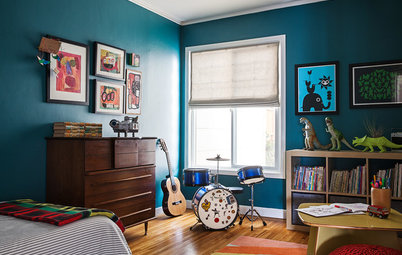 Boy's Bedroom Is a Colorful Place for Music, Learning and Fun
