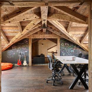 Playroom - rustic playroom idea in Other
