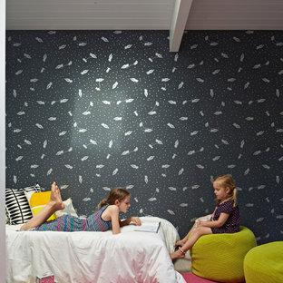 Inspiration pour une chambre d'enfant vintage.