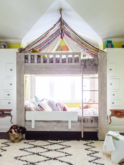 Transitional girl kids' room photo in Los Angeles - Bunk Beds Canopy Houzz