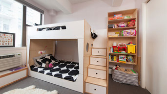 Park Slope; Bunk bed, desks and storage for two sisters