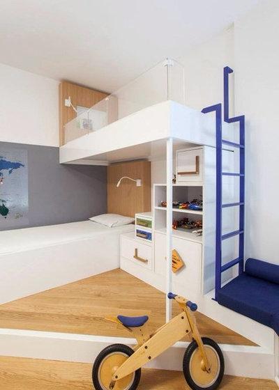 Dormitorios con literas juega con la altura para - Literas en forma de l ...