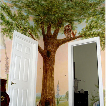 Peter Rabbit Mural inspired by Beatrix Potter
