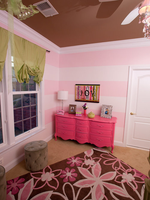 pink and green girls room